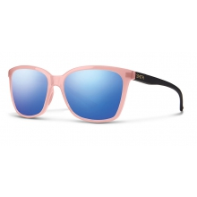 Colette Blush Matte Black Blue Flash Mirror by Smith Optics