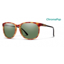 Mt. Shasta Matte Honey Tortoise/Black ChromaPop Polarized Gray Green by Smith Optics