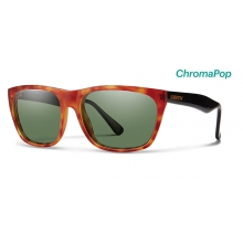 Tioga Matte Honey Tortoise/Black ChromaPop Polarized Gray Green by Smith Optics