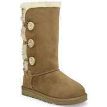Bailey Button Triplet Boot Girls', Chestnut, 1 by Ugg Australia