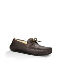 Byron Slipper Men's, Chocolate Leather, 9 by Ugg Australia