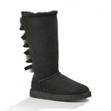 Bailey Bow Tall Boot - Women's - Black In Size: 6 by Ugg Australia