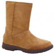 Michaela Boot Women's, Chestnut Leather, 10 by Ugg Australia