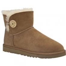 Mini Bailey Button Boot Women's, Chestnut, 7 by Ugg Australia