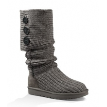 Classic Cardy Boots - Women's-Grey-6 by Ugg Australia