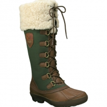 Edmonton Boot Womens - Chocolate/Lodge Green 7 by Ugg Australia
