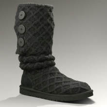 Lattice Cardy Boot Womens - Black 10 by Ugg Australia