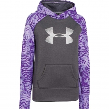 Girls' Printed Big Logo Armour Fleece Hoody