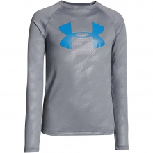Boys' Tech Embossed Long Sleeve Tee by Under Armour