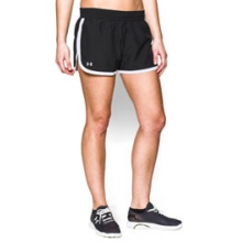UA Great Escape Shorts II - Women's - Black/White/Reflective In Size: Extra Large
