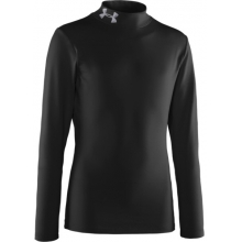 Boy's ColdGear® Evo Fitted Baselayer Mock Black by Under Armour in Ashburn Va