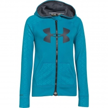 Girl's Storm Big Logo Novelty FZ Hoody by Under Armour