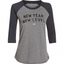 Women's Charged Cotton New Year New Level Raglan LS Crew by Under Armour