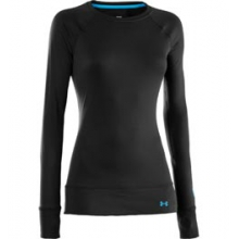 UA Base 2.0 Midweight Long Sleeve Crew Shirt - Women's - Black In Size in Logan, UT