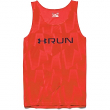 Men's Run Printed Singlet by Under Armour