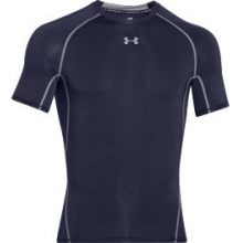 UA HeatGear Armour Short Sleeve Compression Shirt - Men's - Midnight Navy/Steel In Size: Extra Large in Logan, UT