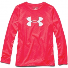 Girls' Big Logo Tech Long Sleeve Embossed Tee by Under Armour