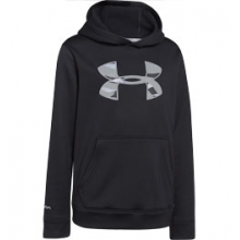 UA Rival Hoodie - Boy's - Black/Steel In Size: Small by Under Armour