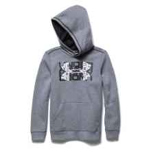Boys' Rival Cotton Logo X2 Hoody by Under Armour