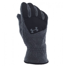 UA Survivor Fleece Gloves - Youth - Black/Black/Steel In Size: Medium by Under Armour