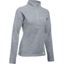 UA Wintersweet 1/2 Zip - Women's - True Grey Heather/Ivory In Size by Under Armour