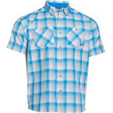 UA Chesapeake Plaid Short Sleeve Shirt - Men's - Electric Blue In Size: Medium in Logan, UT