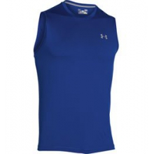 UA Tech Sleeveless T - Men's - Royal/Steel In Size: Large