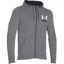 UA Sportstyle Tri-Blend Fleece Full-Zip Hoodie - Men's - Greyhound Heather/Ash/White In Size: Extra Large in Logan, UT