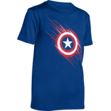 UA Team Captain America Short Sleeve T - Boy's - Royal/White/Red In Size: Large by Under Armour