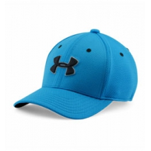 UA Blitzing 2.0 Stretch Fit Cap - Boy's - Meridian Blue/Steel/Black In Size: S-M in Logan, UT