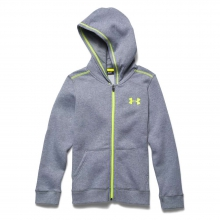 Boys' Rival Cotton Full Zip Hoody by Under Armour