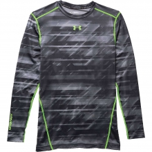 Men's ColdGear Armour Printed Compression Crew Top by Under Armour
