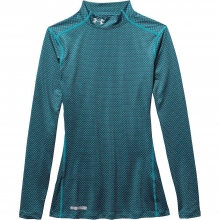 Women's Armour ColdGear Printed Fitted Mock Neck Top by Under Armour
