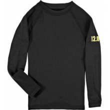UA Base 2.0 Midweight Long Sleeve Crew Shirt - Youth - Black In Size in Logan, UT