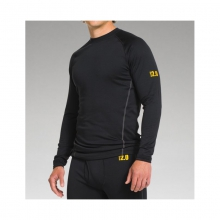 Mens UA Base 2.0 Crew - Sale Black/Battleship/School Bus by Under Armour