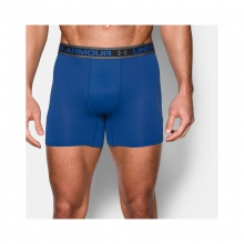Mens UA Mesh 6 in Boxerjock Royal/Charcoal Large