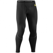 Mens UA Base 2.0 Legging - Sale Black/Battleship/School Bus by Under Armour