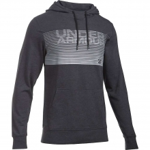 Men's Triblend Striped Wordmark Pullover Hoodie by Under Armour