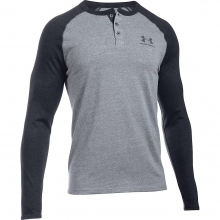Men's Triblend Colorblock LS Henley by Under Armour
