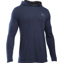 Men's Triblend LS Jersey Pullover Hoodie by Under Armour
