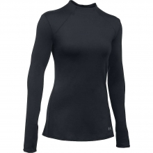 Women's ColdGear Armour Mock Neck Top by Under Armour