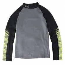 Boys' ColdGear Armour Up Mock Neck Top by Under Armour
