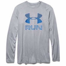 Men's Big Logo Reflective Run LS Tee by Under Armour