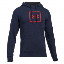 Men's Triblend Squared Logo Pullover Hoodie by Under Armour