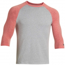 Men's Charged Cotton Tri Blend 3/4 Sleeve Tee by Under Armour