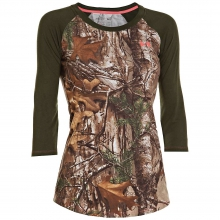 Women's Charged Cotton Camo 3/4 Tee by Under Armour