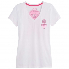 Women's Charged Cotton 100% Proceeds Ribbon V-Neck by Under Armour