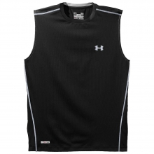 Men's Heatgear Sonic Fitted Sleeveless T-Shirt by Under Armour
