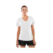 Womens Catalyst V-Neck Tee - Closeout White/Velocity by Under Armour