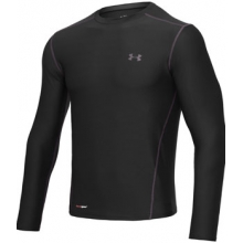HeatGear Fitted UA Base Long Sleeve Crew - Men's-S